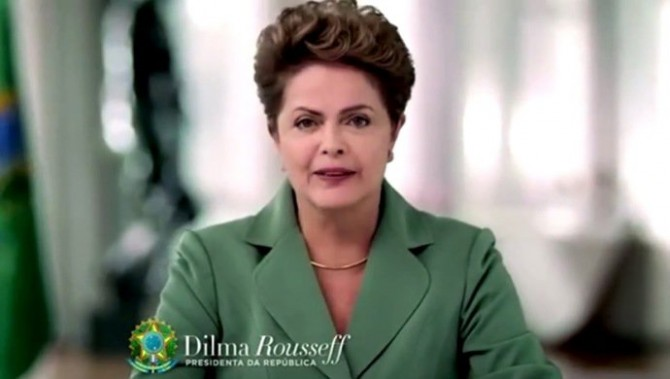Dilma em seu primeiro pronuncimento em cadeia nacional no segundo mandato