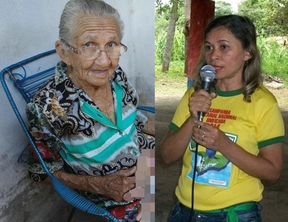 Dona Raimunda Vasconcelos, morre no dia em que completa 91 anos de idade. Ela morava com a Professora Creuza na rua Edgar Gaioso