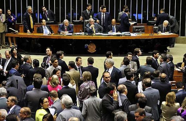 Câmara Federal por ocasião da votação em 1ª instância da PEC da terccerização