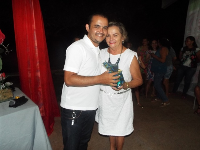 Diretor Pablo Diego homenageando sua mãe na festa
