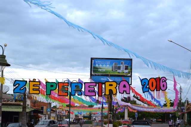 Portal de entrada do Zé Pereira (Foto: Jayranne Melo)