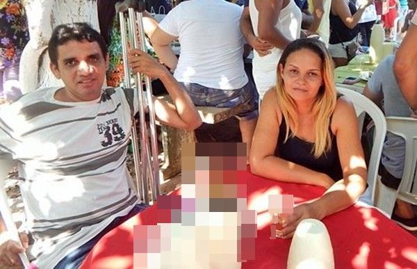 Monteiro e sua esposa Maria do Carmo, á qual ele é acusado de ter assassinado dentro de casa no dia 23 de março