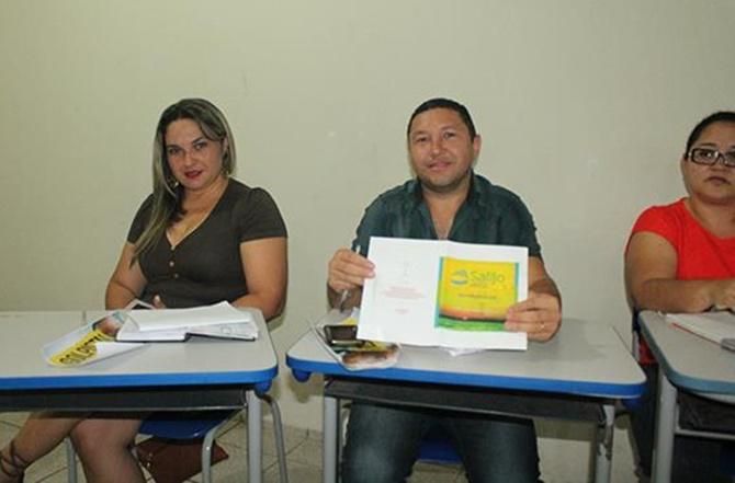 Professores Socorro Coêlho, Antonio Eduardo e Socorro Saraiva
