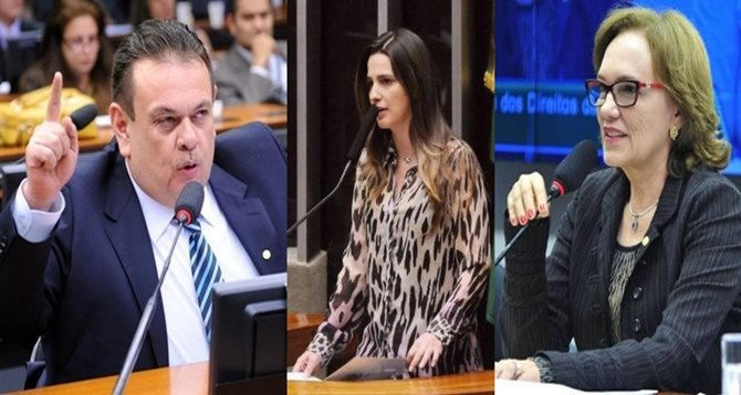 Deputados Silas Freire, Clarissa Garotinho e Zenaide Maia (PR)