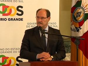 Sartori anuncia pacote de medidas contra crise (Foto: Reprodução/RBS TV)