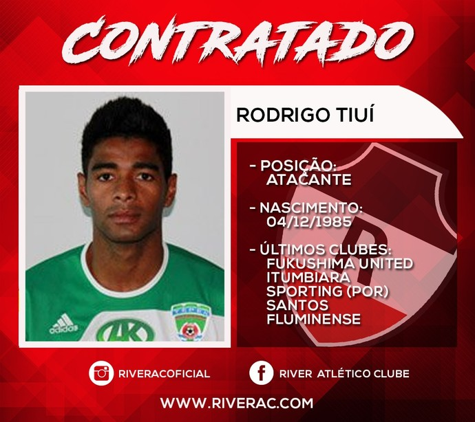 Ex-Santos e Fluminense é anunciado pelo River-PI
